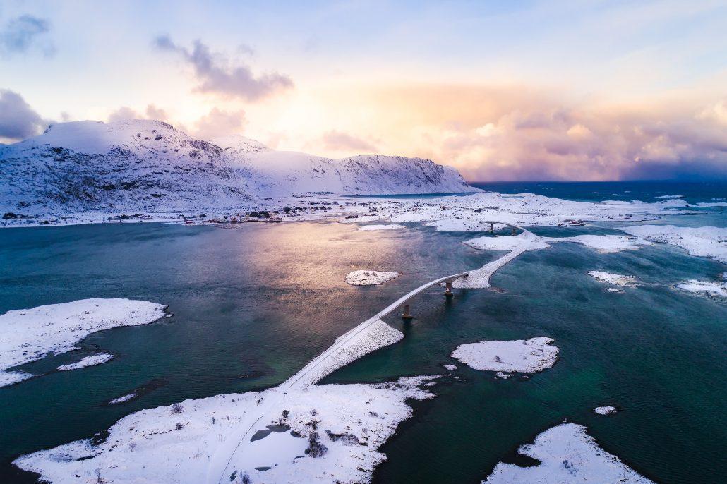 Fredvang bridges, Lofoten islands